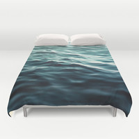 Dark Waters 3 - Duvet Cover, Turquoise Blue Green, Ocean Sea Water Bed Blanket Bedding Throw Cover. Available in Full / Queen / King Size