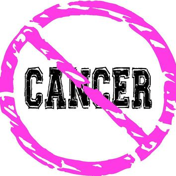 Pink Breast Cancer Circle Awareness Ribbon Decal Sticker For Car Windows, Pc, Laptop, book, wall, Room, Truck