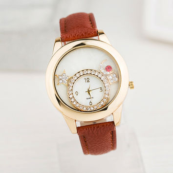 Hot Vintage Fashion Quartz Classic Watch Round Ladies Women Men Wristwatch Michael Kor Like On Sales = 4785462148