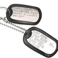 Customized Military Dog Tags
