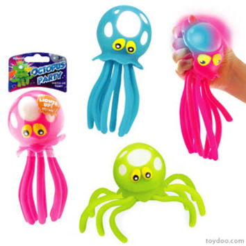 Octopus Party Light-Up Bath Toy - Toysmith - Pack of 12 ea