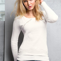 Lace-trim Sweatshirt - Victoria's Secret