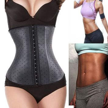 2016 Luxury Latex Waist Trainer Hot Body Shaper Waist Cincher Underbust Abdomen Breathable Waist Trainer Corset