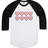 tumblr hearts 2.-Unisex White/Black T-Shirt