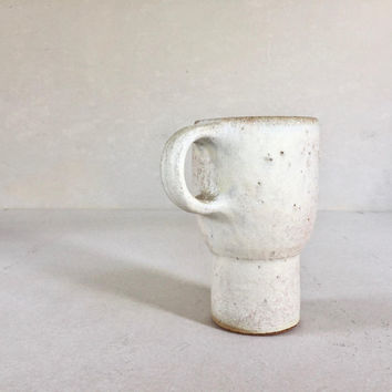 Patina White TRAVEL CAR MUG 18 oz, ceramic, pottery, handmade, coffee mug, tea mug, pottery mug, handmademug, togo mug, to go mug, rustic