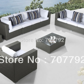 2017 Contemporary Patio outdoor furniture wicker patio sofa set