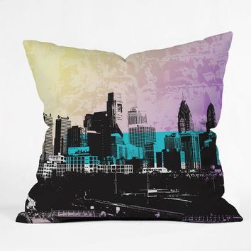 Philadelphia Skyline home decor pillow