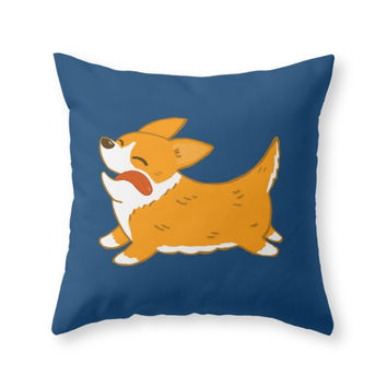 Society6 Corgi!! Throw Pillow