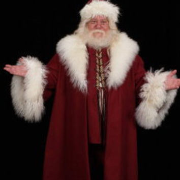 Victorian Saint Nick Santa Claus Hat Coat Vest Knickers Shirt Costume Prop