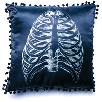 Sourpuss Clothing Anatomical Ribs Pillow Black One