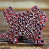Pink Panache - Texas Ring - AB Crystals ~