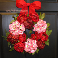 valentines wreaths Valentine's Day wreath spring wreaths for front door wedding wreath decorations wreaths birthday gifts