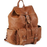 Faux Leather Backpack -