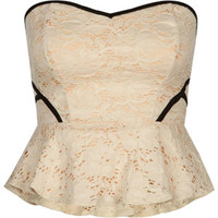 LOVE FIRE Lace Peplum Corset