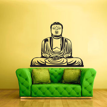 rvz1380 Wall Decal Vinyl Sticker Decals Buddha India Indian Om Ganesh God Yoga