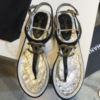 Chanel 18ss  Women Fashion Casual  Sandals Shoes