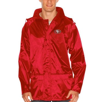 San Francisco 49ers Dugout Full Zip Rain Jacket – Scarlet