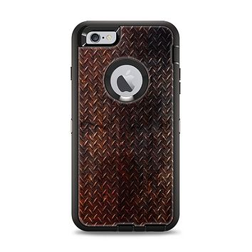 The Rusty Diamond Plate Texture Apple iPhone 6 Plus Otterbox Defender Case Skin Set