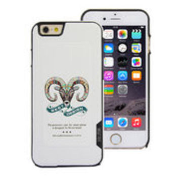 Made in China Factory Price Mr.me Original Color Carving White Case for iPhone 6 Plus 5.5 inch (Antelope Head)
