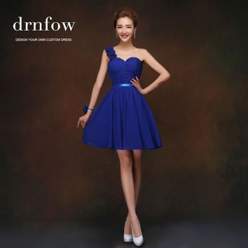Bridesmaid dress short design 2015 bridesmaid formal dresses royal blue chiffon party prom six style to choose under $50