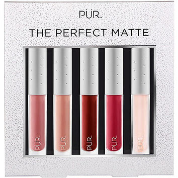 The Perfect Matte 5 Pc Velvet Matte Liquid Lipstick Collection w/ Lip Oil