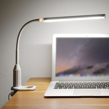 USB Powered Clamp Clip Light Table Lamp Touch Sensor Control Flexible Lamp Desk Reading Working Studying Table Lamp Night Light