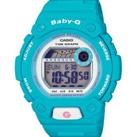Casio Women's BLX102-2B Baby-G Shock Resistant Light Blue Digital Sport Watch