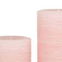 Pink Rustic Pillar Candle | Pale Dogwood