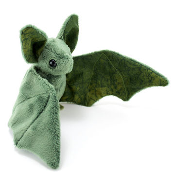 Perfectly Imperfect - Nature Green Bat Stuffed Animal, Plushie, Plush Toy