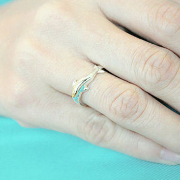 Single Dolphin Silver Ring Sterling Ring .925 Silver Ring Personalized Ring