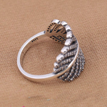 2016 NEWEST RINGS 925 Sterling Silver Light As A Feather Ring for Women Compatible with Pandora Jewelry