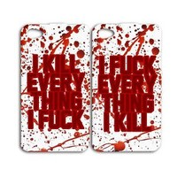 Zombie Bloody Best Friend Vampire Phone Case iPhone Hot Blood Cool Cover Goth