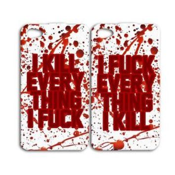 Zombie Bloody Best Friend Lover Phone Case iPhone 4 4s 5 5s 5c 6 6s + Plus Hot