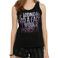 If Monday Had A Face Galaxy Girls Tank Top