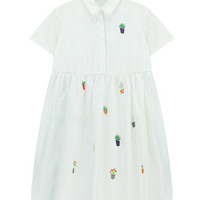 Babydoll Dress with Cute Embroidery
