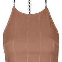 Topshop Chain T-Back Bandage Crop Top | Nordstrom