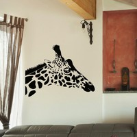 Wall Decal Vinyl Sticker Wild Animal Giraffe Decor Sb463