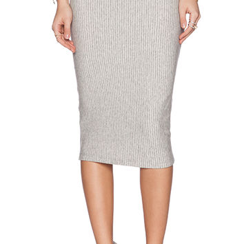 James Perse Classic Fleece Skirt in Light Gray