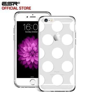 ESR Hybrid Case Ultra Slim Fit Soft Silicone TPU Clear pattern Hard Back Case for iPhone 6/6s
