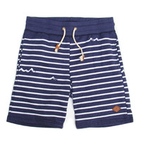 James Striped Navy Shorts