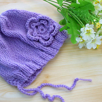 Girl Hat Newborn Baby Girl Hat Flower Knit Baby beanie Knitting toddler girl hat little girl flower Baby shower gift Photography Prop hats