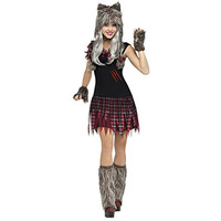 Fun World Womens Wick'd Wolfie Halloween Party Dress Costume