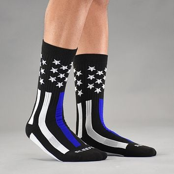 Snow USA Classic Thin Blue Line soft socks