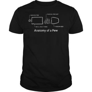 The anatomy of a pew shirt Premium Fitted Guys Tee