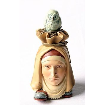 Headfooter Creature with Owl Statue by Hieronymus Bosch 3.9H