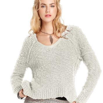 Free People Sweater, Long-Sleeve V-Neck Top - Sweaters - Women - Macy's