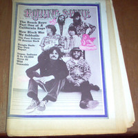 Rolling Stone Magazine #94 1971 Beach Boys Brian Wilson Black Sabbath Rolling Stones Collectible Vintage Original Rock Music Hippie