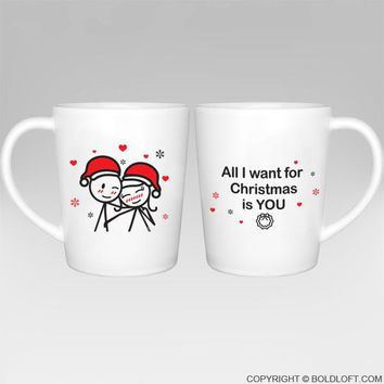 Merry Christmas™ Couple Coffee Mugs-Christmas Mug,Couples Gift,His and Hers Couple Mug Set,Couples Gift,Gifts for Him,Gifts for Her,Christmas Gifts for Couples