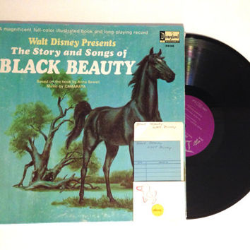 LP Album Walt Disney Presents The Story And Songs Of Black Beauty Anna Sewell Vinyl Record Childrens Story