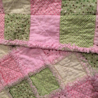 Soft and Cuddly:  Baby Rag Quilt - Pastel Colors